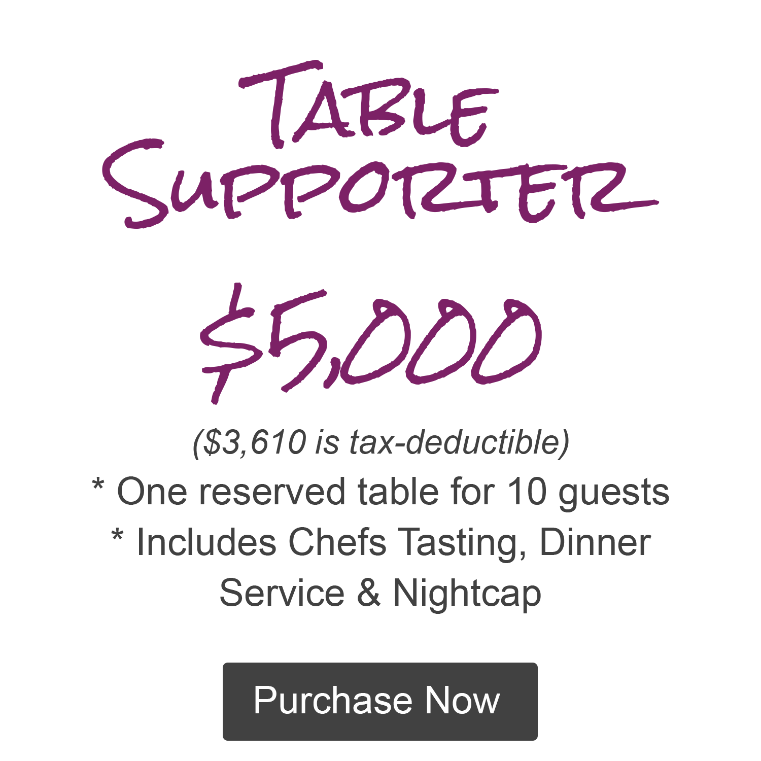 Table Supporter Full Button
